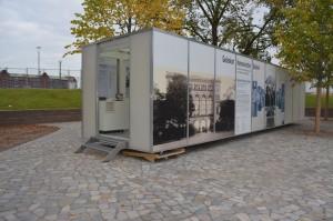 Infopavillon Gedenkort Hannoverscher Bahnhof